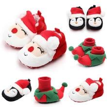 Обувь для маленьких мальчиков и девочек; удобная обувь смешанных цветов; модная обувь для малышей; детская Рождественская обувь Санта-Клауса для мальчиков и девочек