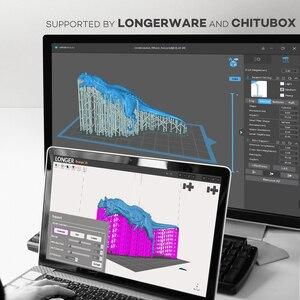 Image 3 - LONGER Orange10 imprimante 3D abordable SLA impression 3D prise en charge intelligente tranchage rapide UV traitement de la lumière facile à utiliser entrée de gamme