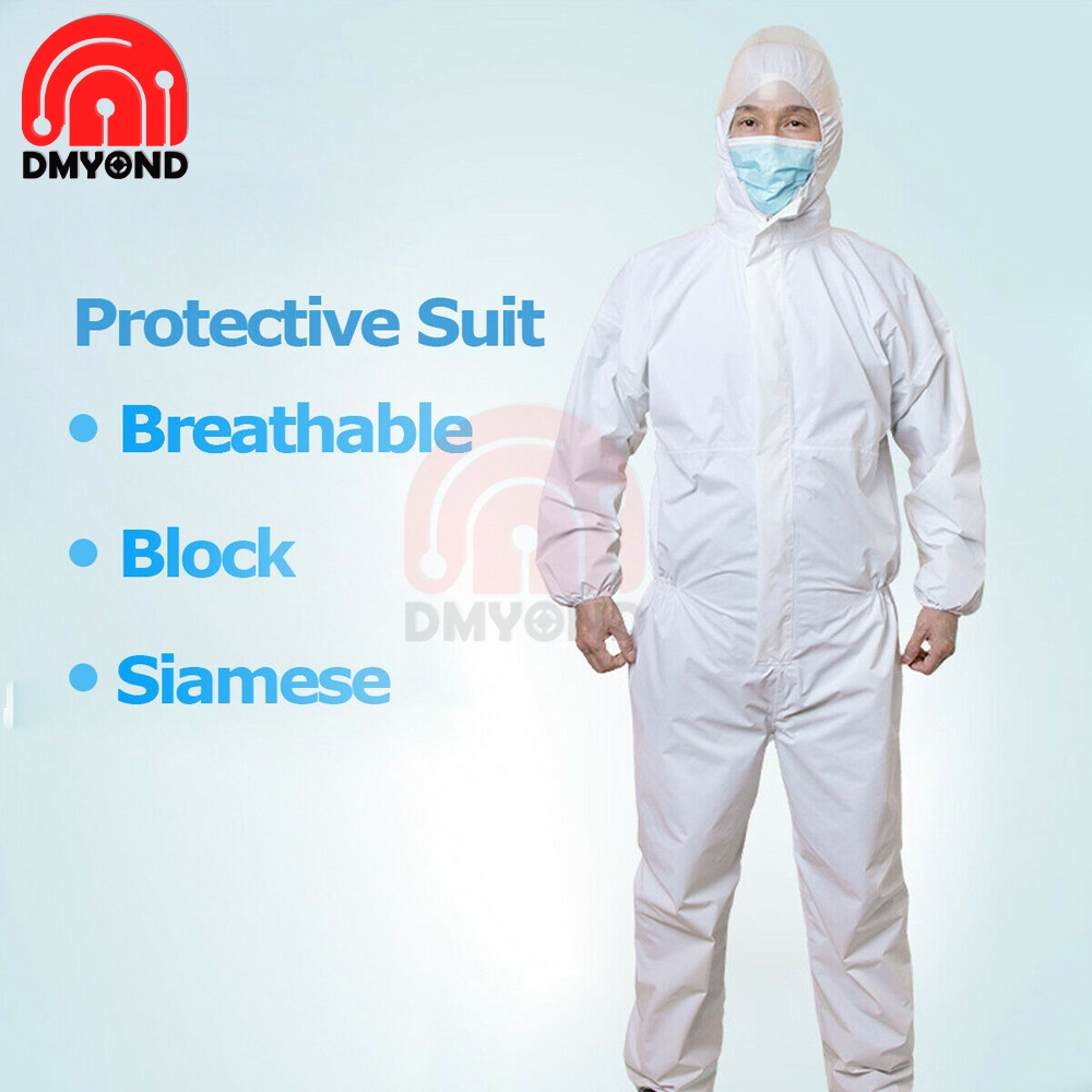 1PCS One-off Protective Coverall Suit Long Front Zipper Elastic Cuffs Isolation Suit Anti-dust Against Oil Water L/XL/XXL/XXXL