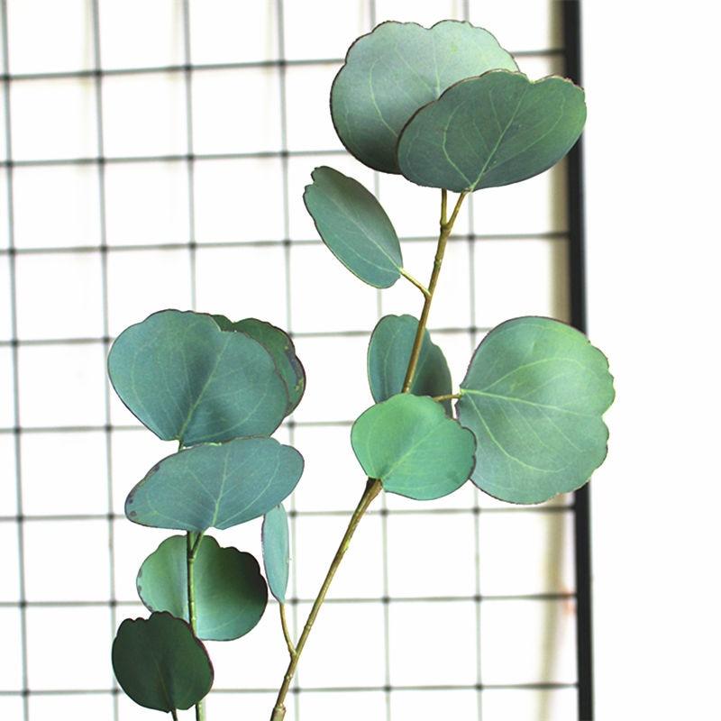 Luxus 3D Druck Eukalyptus Künstliche pflanzen für Weihnachten hochzeit dekoration gefälschte pflanzen home decor faux laub