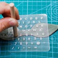 3 uds herramienta de artesanía de cuero mayúscula Lowercase estampado equipo de perforación punzón carta herramientas de artesanía 2020 gran oferta suministros de bricolaje para el hogar