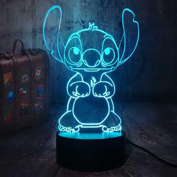 Nouveau dessin animé mignon point 3D LED veilleuse 7 changement de couleur bébé sommeil lampe de Table décor à la maison vacances enfants nouvel an cadeau de noël