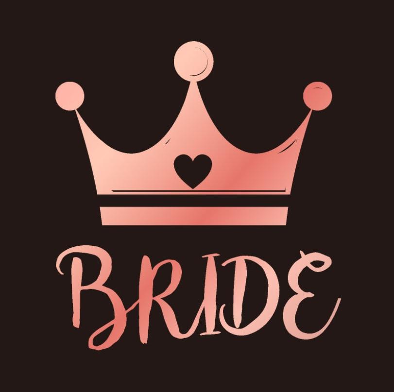 結婚式の装飾チーム花嫁は入れ墨好意 Boda ステッカーパーティー Diy の装飾ブライダルシャワー独身編パーティー