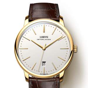 Image 4 - Switzerland relojes LOBINNI para hombre, cronógrafo mecánico Manual de Marca de lujo, Venus, L12028 4 de zafiro para hombre