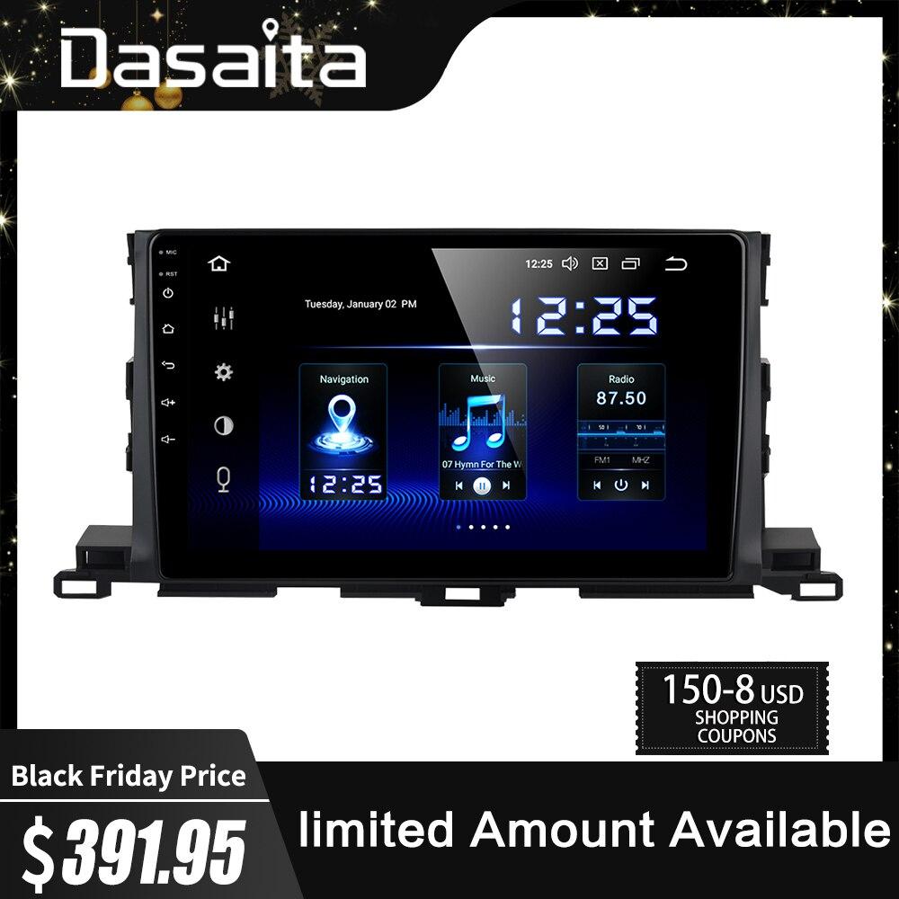 "Dasaita 10.2 ""voiture multimédia 1 Din Android 9.0 pour Toyota Highlander GPS 2015 autoradio Bluetooth MAX6 64GB ROM"