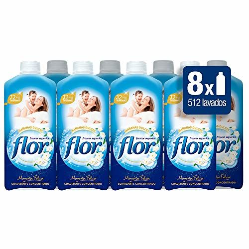 Flower Fabric Softener Concentrate Fragrance Moments: Morning Sweets–4Packs Of 64Dose–Total: 256Dose