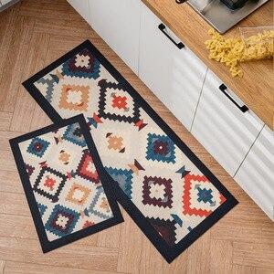 Antypoślizgowa olejoodporna wodoodporna mata kuchenna z pcv długi dywan kuchenny styl boho mata kuchenna sypialnia dywanik łazienkowy