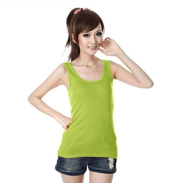 2019 Spring Summer Tank Tops Women Sleeveless Round Neck Loose T Shirt Ladies Vest Singlets Camisole Cotton Ladies Thin Vest 1 4