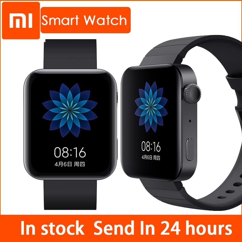 Xiaomi Smart Mi Смарт часы GPS NFC, Wi-Fi, ESIM телефонный звонок Смарт Браслет Android наручные спортивные Bluetooth фитнес-монитор сердечного ритма трек