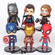 Цельный супергерой Мстители эндгейм Железный человек Халк Капитан Американский Супермен спайдерм фигурки подарок коллекция детских игрушек