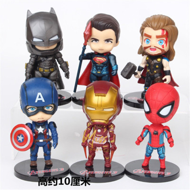 One Piece Superhero Avengers endgame Iron Man Hulk Captain America Superman spiderm Action Figures Gift Collection of Child toys(China)