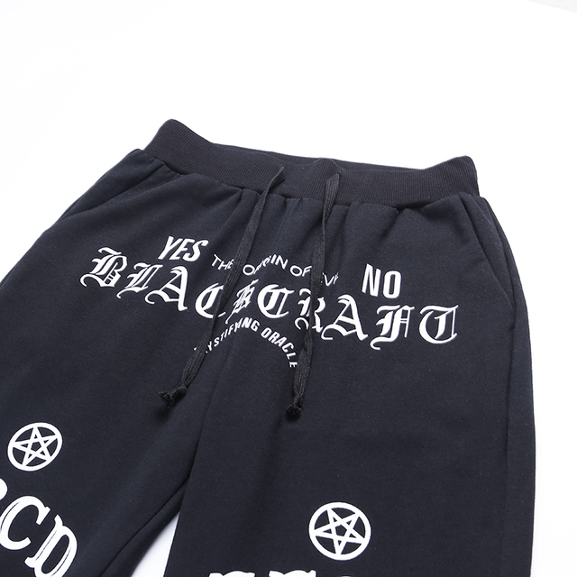 Gothic Pants with printed letters