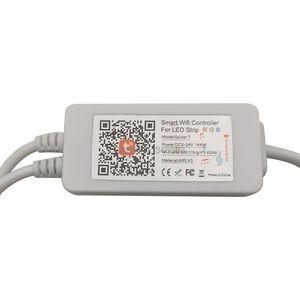 Image 4 - Bande lumineuse RGB LED intelligente Tuya, wi fi, 12V, 5050, 60 diodes/m, 5m, 10m, compatible avec Alexa et Google Assistant et télécommande vocale