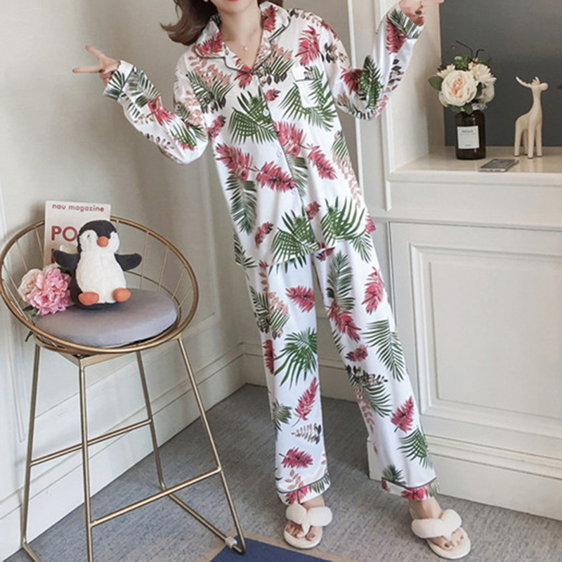 Autumn Winter Pajamas Women Clothes For Sets V-Neck Sleepwear Lovely Rabbit Pijamas Mujer Long Sleeve Cotton Sexy Pyjamas Female
