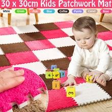 Мягкий плюш коврик дети игры игрушки грелка коврики ребенок уход EVA пена младенец ползание коврик головоломка блокировка комната пол ковер зима 30% 2A30 CM