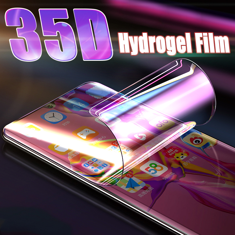 35D Full Cover Hydrogel Film For Huawei P40 Lite P20 P30 Pro Screen Protector For Huawei Mate 20 Pro P Smart 2019 Film Not Glass(China)