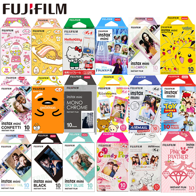 Fujifilm 10 100 Sheets Alice Cartoon Instant Photo Paper cartoon Film For Fuji Instax Mini 11 9 8 70 7s 50s 90 25 Share SP 1 2