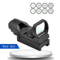 Quente 11mm/20mm trilho reflex 4 retículo escopos táticos óptica vista holográfica ponto vermelho colimador vista para airsoft pistola de ar ооа а|Lunetas Riflescopes| |  -