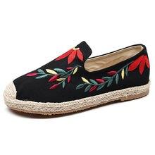 Женская обувь классические тканевые туфли новые с вышивкой в