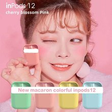 Inpods12 Macaroon Stylish True Wireless Earbuds Bluetooth 5.0 Deep Bass Earphones Built-in Mic Headset(Give away a headset bag)