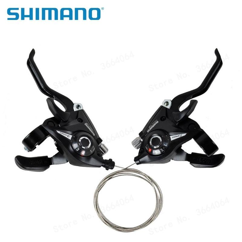 SHIMANO MTB Brake Levers Set Black Brake Shifter Shift 3x8 Speed ST-EF51-8