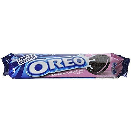 New Oreo Limited Edition Strawberry Cheesecake Flavour Gusto Fragola 154g