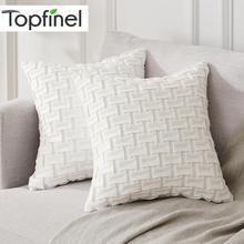 Topfinel المخملية لينة يلقي الوسائد Geometr ديكور وسادة وسادة يغطي الفاخرة أنيقة ساحة المخدة ل أريكة سرير المنزل سيارة