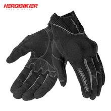 HEROBIKER мотоциклетные перчатки для езды по бездорожью Luva Motociclista Guantes мото байкерские перчатки для мотокросса с сенсорным экраном Мотоциклетные Перчатки