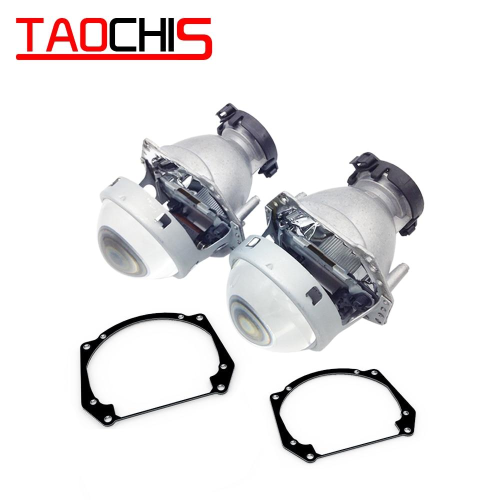TAOCHIS adaptateur de cadre de style de voiture Hella 3r G5 modification de lentille de projecteur pour AUDI A5 Q5 Q7