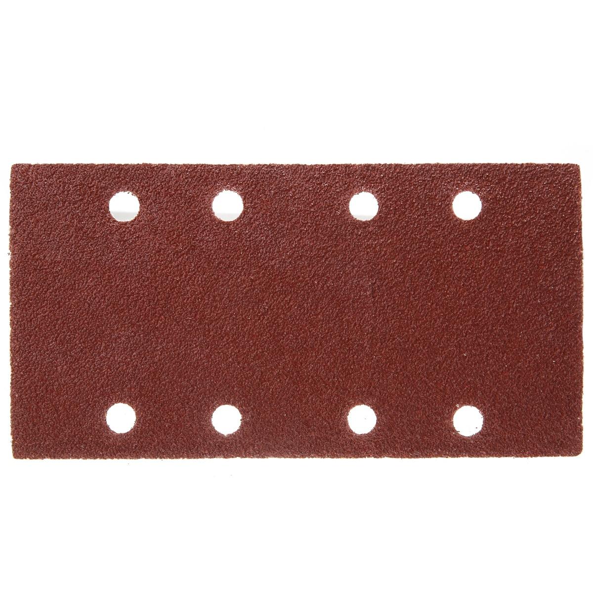 50pcs 8 Holes Sand Paper Sheets Rectangle Brown Sandpaper For Polishing Swing Grinder 40-120 Grit Orbital Sanders Tools 93*185mm