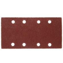 50pcs 8 Holes Sand Paper Sheets Rectangle Brown Sandpaper for Polishing Swing Grinder 40 120 Grit Orbital Sanders Tools 93*185mm