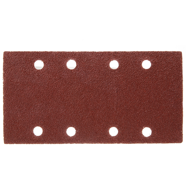 50pcs 8 Holes Sand Paper Sheets Rectangle Brown Sandpaper for Polishing Swing Grinder 40 120 Grit Orbital Sanders Tools 93*185mm