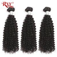 Afro Kinky Curly Hair Bundles 3pcs lot Brazilian Hair Weave Bundles RXY Remy Human Hair Bundles Weaves 10 28 No Tangle&Shedding