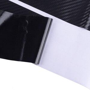 Image 3 - DWCX 4pcs 유니버설 블랙 탄소 섬유 스타일 문턱 문턱 환영 페달 플레이트 스커프 커버 안티 스크래치 보호기 스티커