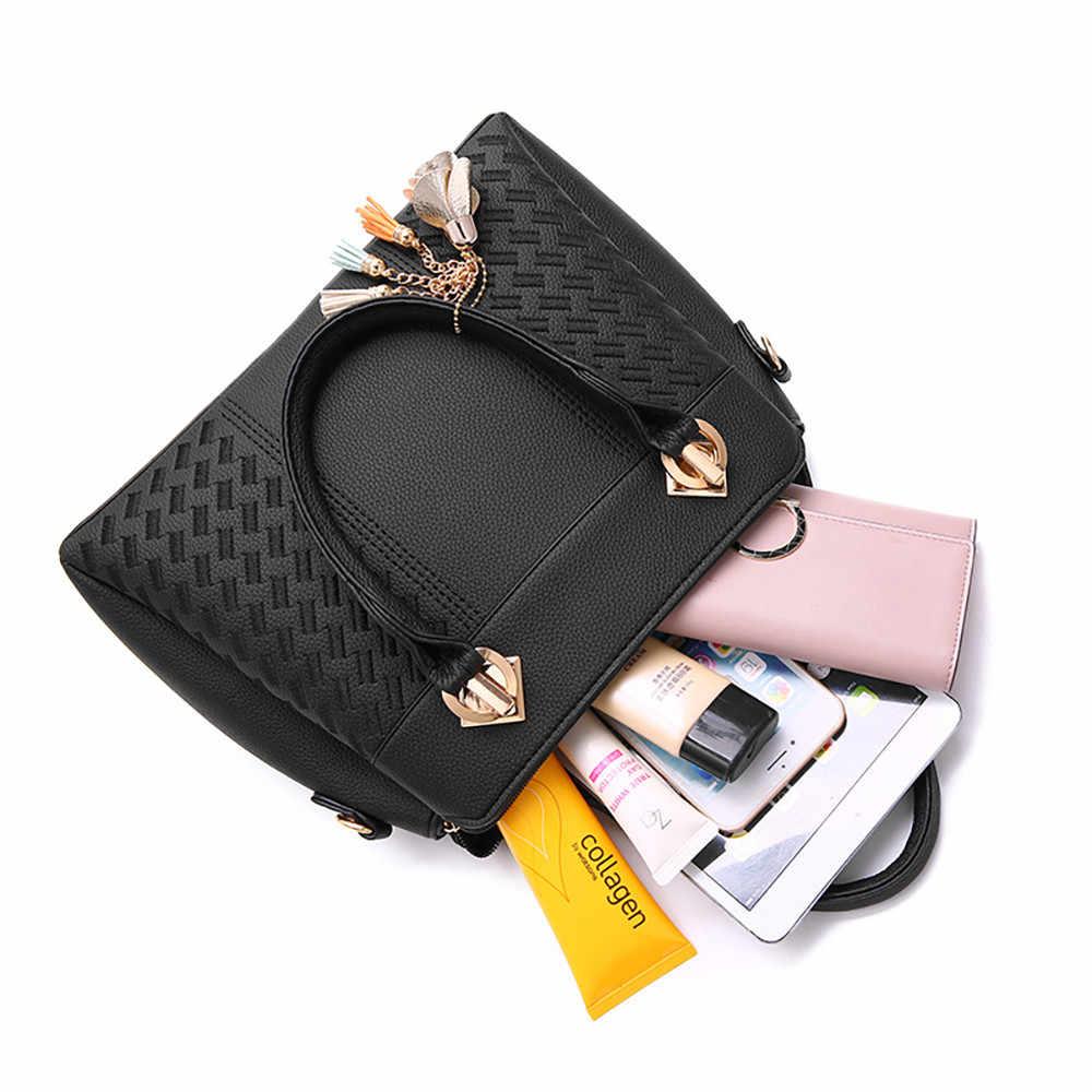 Bolsos de lujo para mujer, bolso de hombro de gran capacidad, bolso de mano de cuero de PU de diseño de moda 2019, bolso de hombro de negocios