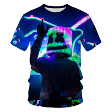 Summer fashion O-collar men's T-shirt DJ scene disco 3D printed casual T-shirt men's Asian size S-6XL t-shirts for men