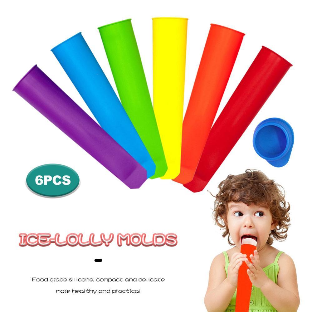 6 шт. силиконовых кейсов для фруктового мороженного, принимающих летние мороженного на палочке плесень кухонный инструмент