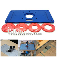 Trimming-Machine Table-Insert-Plate Router Woodworking Milling-Guide Slotting Multifunction
