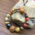 Винтажные натуральные 18 Семена Бодхи браслет браслеты Будда Шарм браслет тибетская буддийская молитва деревянные бусины
