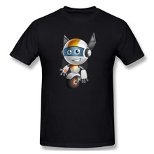 Cute Little Robot Cartoon Vector Character Aka Owaf Casual O-Neck Men's Basic Short Sleeve T-Shirt 100% Cotton Tee Shirt Printed(China)