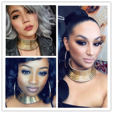 New Fashion African Necklace Bridal Jewelry Women Gold Custom Choker Wedding Gift