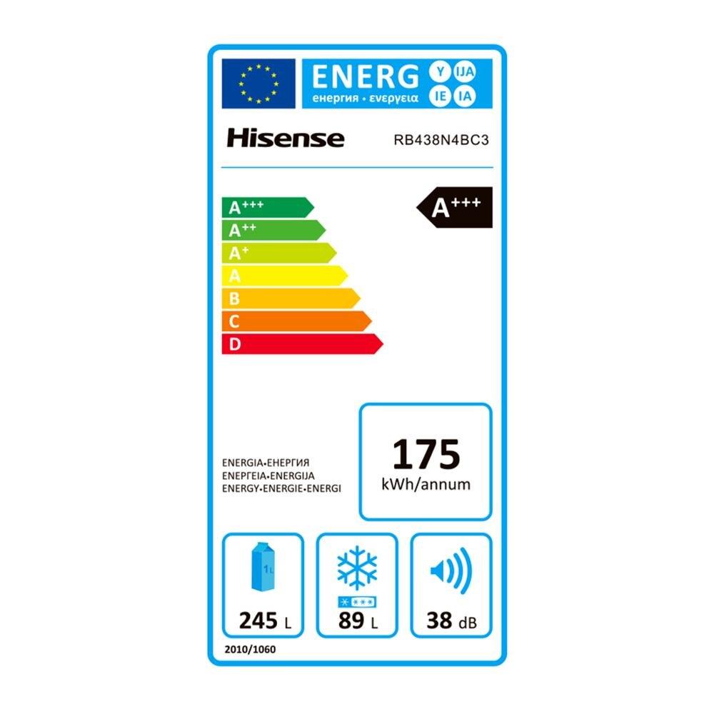 Hisense RB438N4EC3 réfrigérateur, réfrigérateur, 334 litres, No frost, classe A + +, compresseur inverseur, silencieux - 6