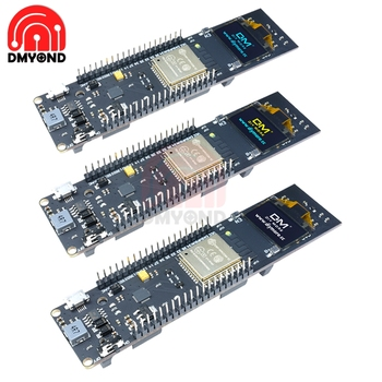 Pantalla OLED para desarrollo de batería de litio, pantalla de 0,96 pulgadas, 18650, batería WiFi, módulo ESP32 ESP-32 ESP8266 CP2102