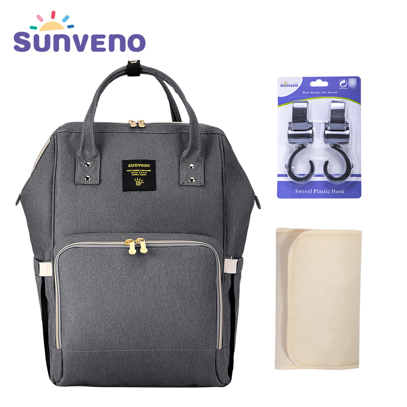 SUNVENO Fashion Mummy Maternity Diaper Bag Large Nursing Bag Travel Backpack Designer Stroller Baby Bag Baby Care Nappy Backpack