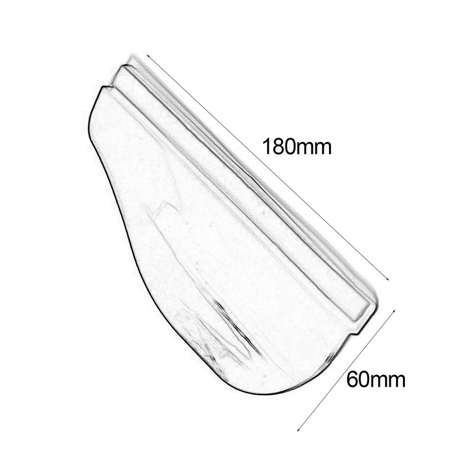 2PCS//SET Universal Auto Car Rearview Mirror Rain Blades Durable Rainproof Acrylic Anti Rain Visor Snow Guard Car Accessories
