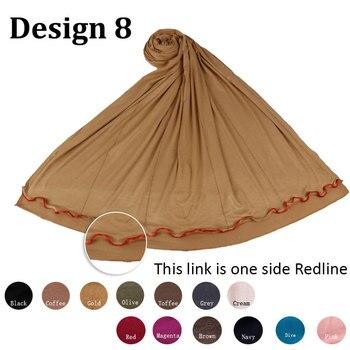 D08-Multicolor de Cottonstretchy Jersey tipo Hijab bufanda con piedras para musulmana islámica las mujeres abrigos y chales pañuelos en la cabeza
