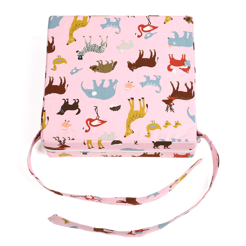 Thick Dismountable Increasing Washable Dining Printed Home Chair Cushion Booster Pad Sponge Strap Portable Seat Highchair