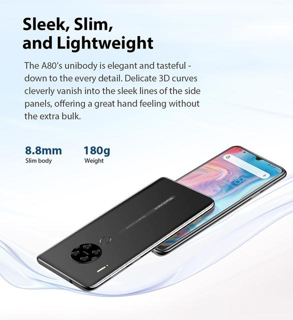"""Blackview A80 Quad Rear Camera Android 10 Phone 6.2"""" Waterdrop Screen 2GB+16GB MTK6737 Quad Core 4G Mobile Phone 4200mAh Battery 5"""