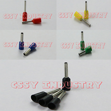 100pcs/Pack E6018 E10-12 E10-18 E25-12 E25-16 E25-18 E35-16 Insulated Ferrules Terminal Block Cord End Wire Connector