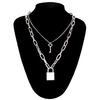 Lock Chain Necklace With A Padlock Pendants For Women Men Punk Jewelry On The Neck 2020 Grunge Aesthetic Egirl Eboy Accessories 6